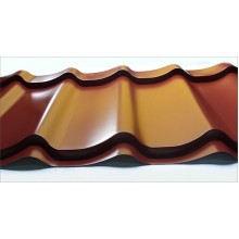 Spalvota plieninė stogo/sienos danga Čerpinis arba T-18 profilis PL