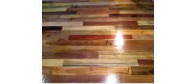Tikra istorija: medinės paletės virto reto grožio grindimis